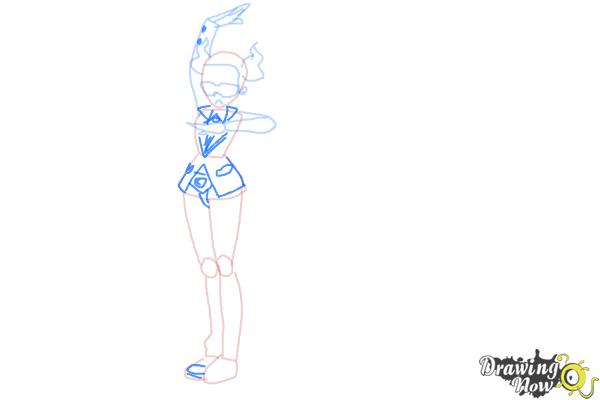 How to Draw Team Flare from Pokemon X & Y - Step 5