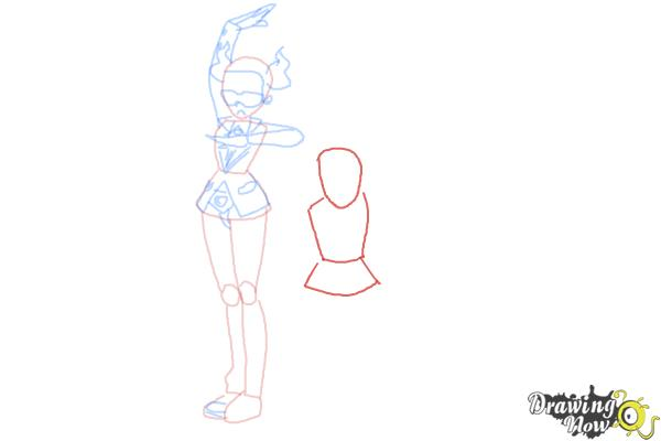 How to Draw Team Flare from Pokemon X & Y - Step 6
