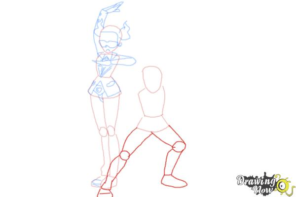 How to Draw Team Flare from Pokemon X & Y - Step 7