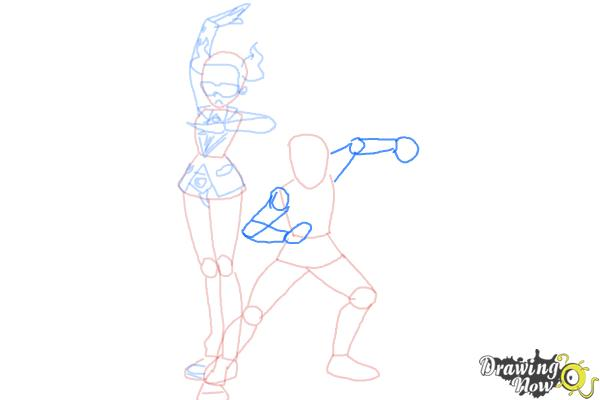 How to Draw Team Flare from Pokemon X & Y - Step 8