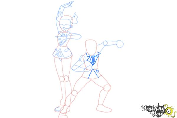 How to Draw Team Flare from Pokemon X & Y - Step 9
