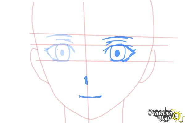 How to Draw Nike Remercier from Soredemo Sekai Wa Utsukushii - Step 5