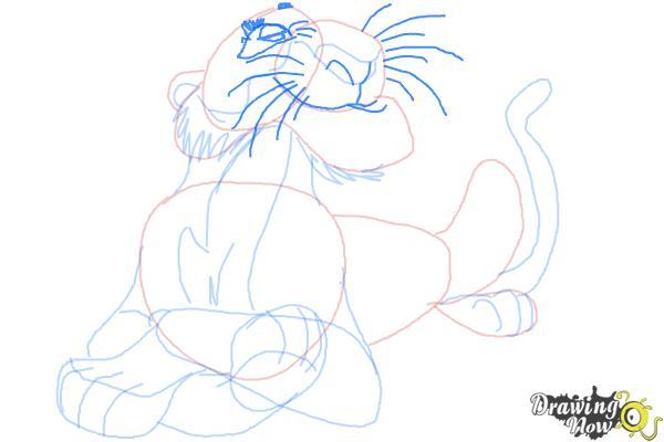 How to Draw Shere Khan, Disney Villain - Step 10