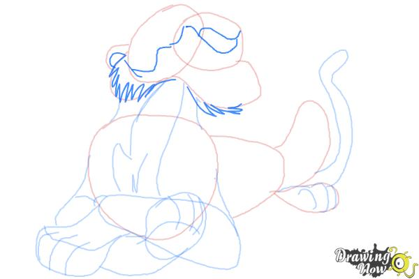 How to Draw Shere Khan, Disney Villain - Step 9