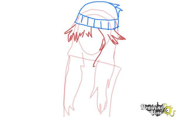 How to Draw Az from Pokemon X & Y - Step 3