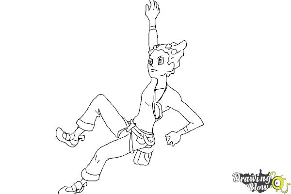 How to Draw Gym Leader Grant from Pokemon X & Y - Step 9