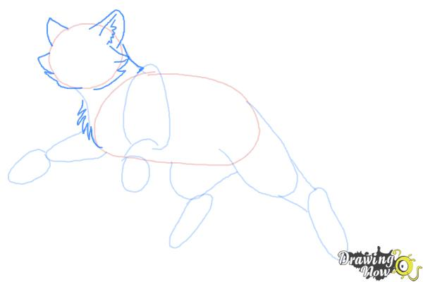 How to Draw Bluestar from Warrior Cats - Step 5