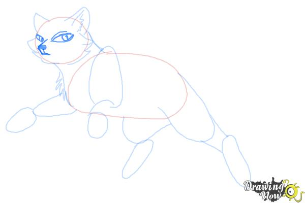 How to Draw Bluestar from Warrior Cats - Step 6