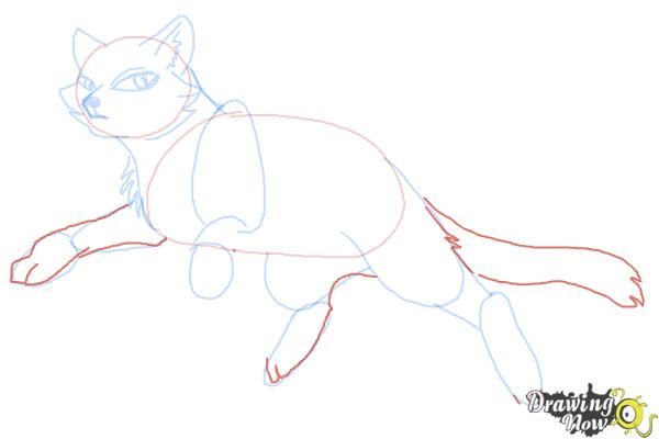 How to Draw Bluestar from Warrior Cats - Step 7