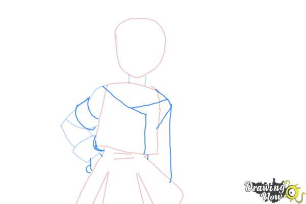 How to Draw Misaki Suzuhara from Angelic Layer - Step 4