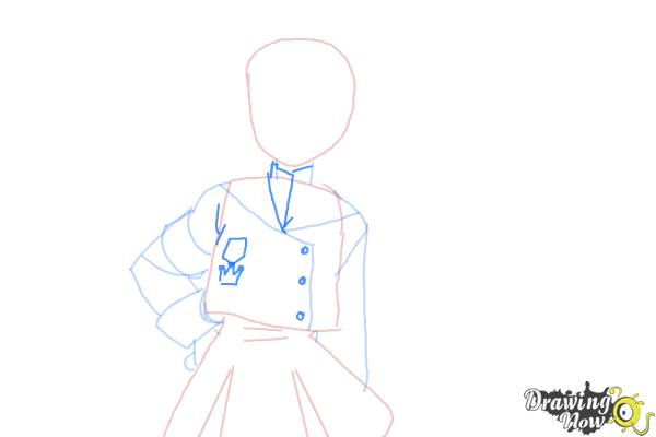 How to Draw Misaki Suzuhara from Angelic Layer - Step 5