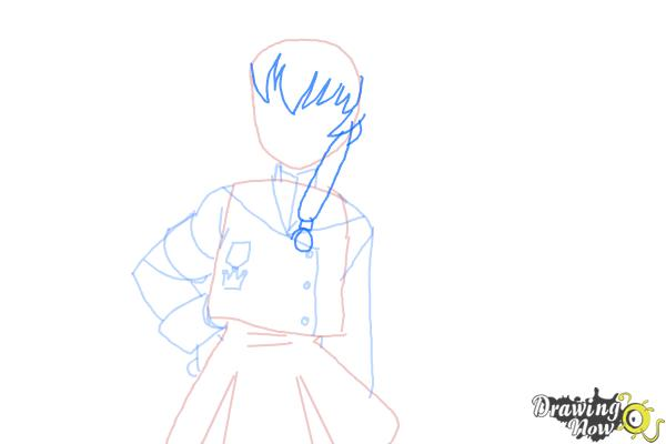 How to Draw Misaki Suzuhara from Angelic Layer - Step 6
