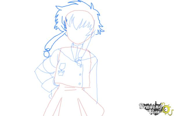 How to Draw Misaki Suzuhara from Angelic Layer - Step 7