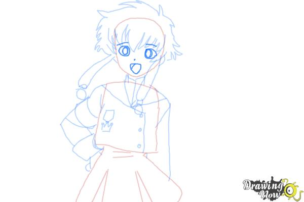 How to Draw Misaki Suzuhara from Angelic Layer - Step 8