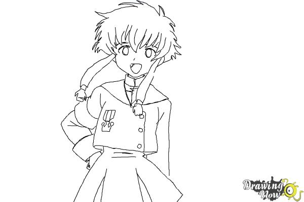 How to Draw Misaki Suzuhara from Angelic Layer - Step 9