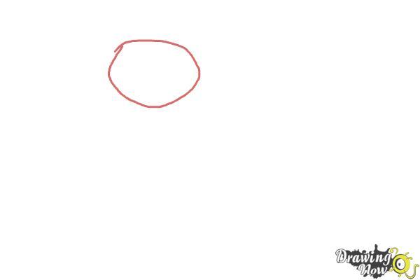 How to Draw a Turkey For Kids - Step 1