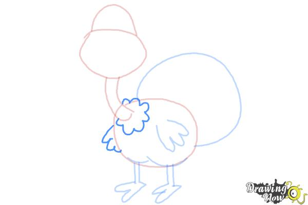 How to Draw a Turkey For Kids - Step 6