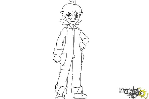 How to Draw Gym Leader Clemont from Pokemon X & Y - Step 10