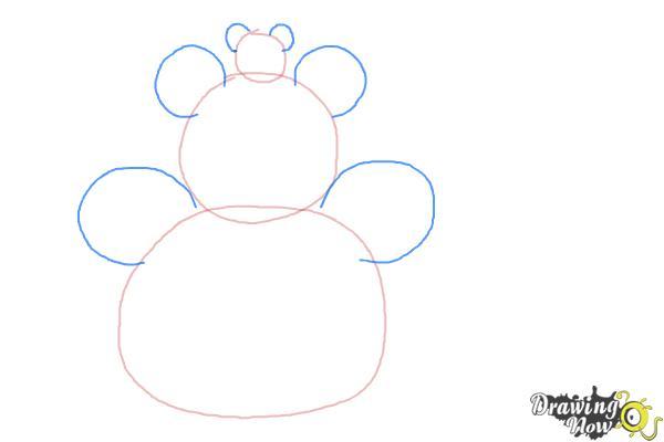 How to Draw Disney Tsum Tsum - Step 2
