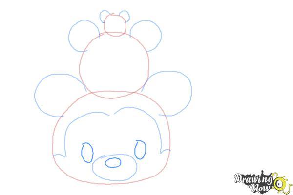 How to Draw Disney Tsum Tsum - Step 4