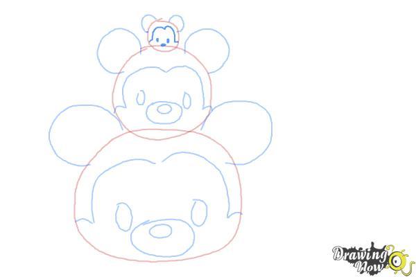 How to Draw Disney Tsum Tsum - Step 7