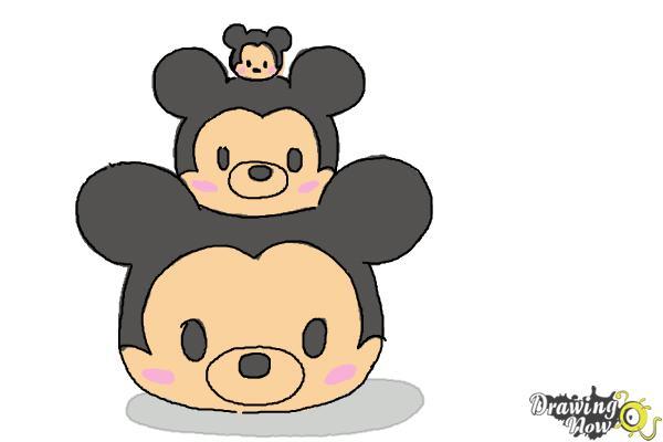 How to Draw Disney Tsum Tsum - Step 9