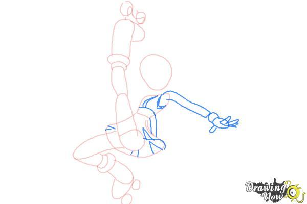 How to Draw Gym Leader Korrina from Pokemon X & Y - Step 6