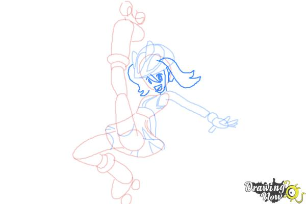 How to Draw Gym Leader Korrina from Pokemon X & Y - Step 8