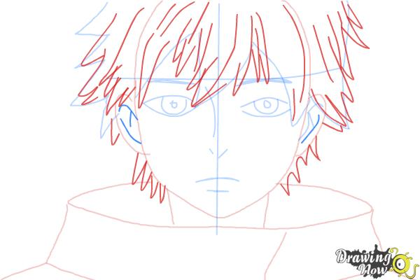 How to Draw Ken Kaneki from Tokyo Ghoul - Step 5