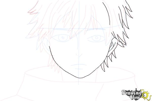 How to Draw Ken Kaneki from Tokyo Ghoul - Step 6
