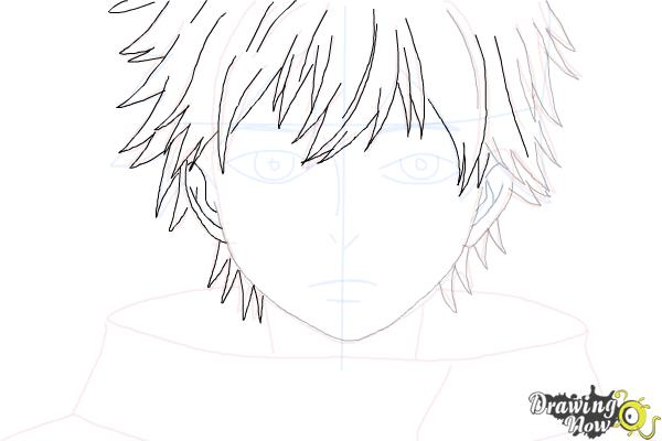 How to Draw Ken Kaneki from Tokyo Ghoul - Step 7