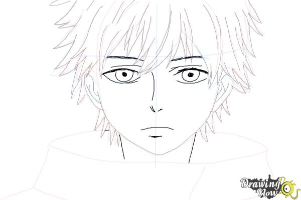 How to Draw Ken Kaneki from Tokyo Ghoul - Step 8