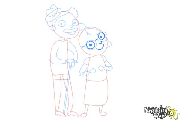 How to Draw Grandparents - Step 11