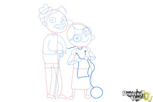 How to Draw Grandparents - Step 12