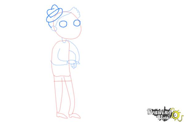 How to Draw Grandparents - Step 5