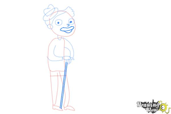 How to Draw Grandparents - Step 6