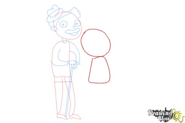 How to Draw Grandparents - Step 7