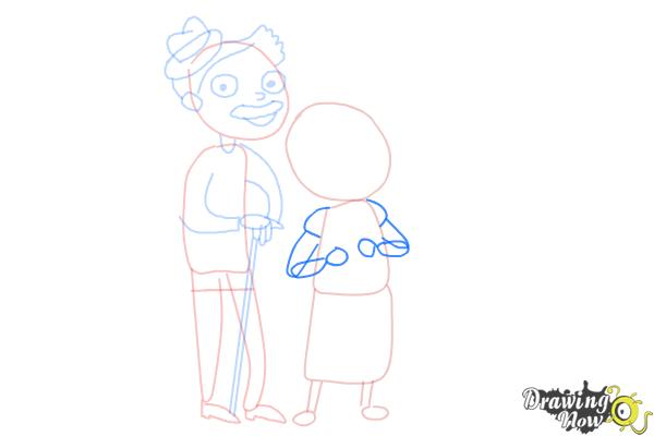 How to Draw Grandparents - Step 9
