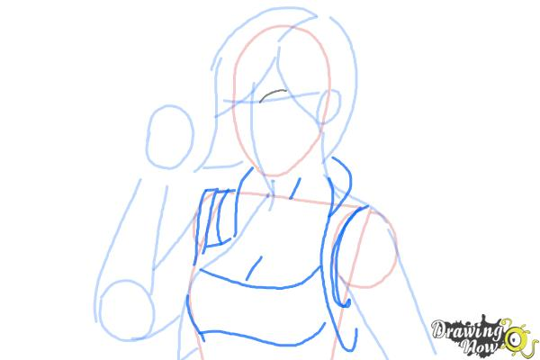 How to Draw Lilith from Borderlands 2 - Step 5