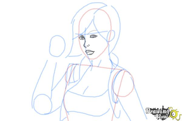 How to Draw Lilith from Borderlands 2 - Step 6