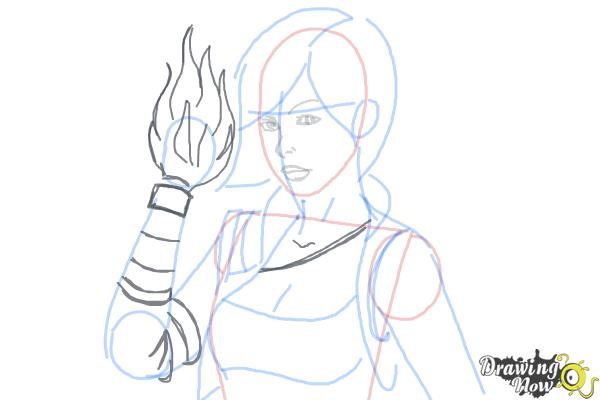 How to Draw Lilith from Borderlands 2 - Step 7