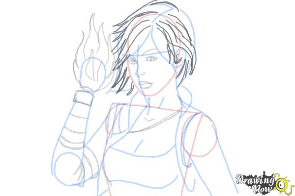 How to Draw Lilith from Borderlands 2 - Step 8