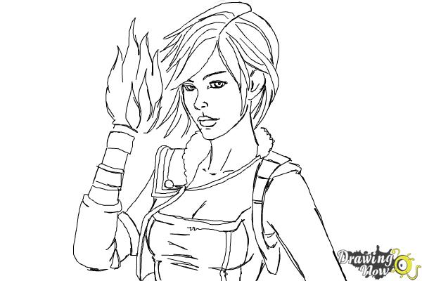 How To Draw Athena From Borderlands The Pre