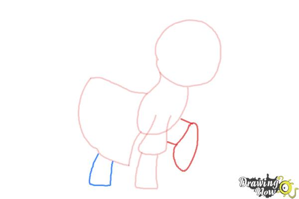 How to Draw Photo Finish from My Little Pony Friendship Is Magic - Step 4