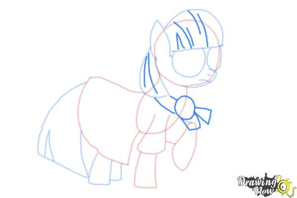 How to Draw Photo Finish from My Little Pony Friendship Is Magic - Step 8