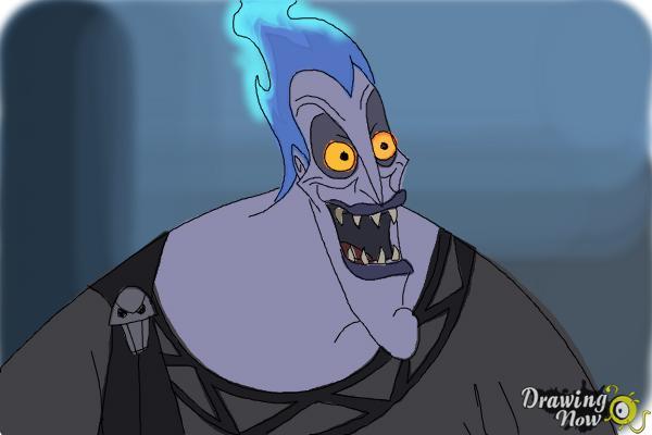 How to Draw Hades, Disney Villain - Step 10