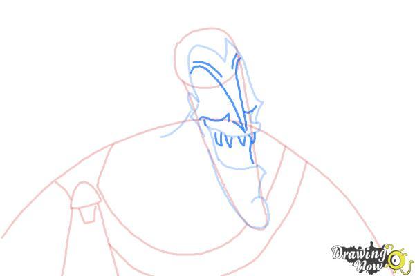 How to Draw Hades, Disney Villain - Step 6