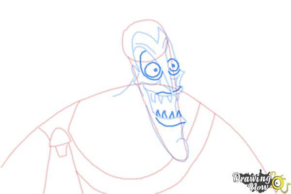 How to Draw Hades, Disney Villain - Step 7