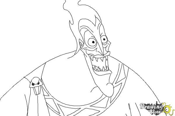 How to Draw Hades, Disney Villain - Step 9