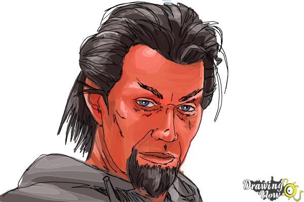 How to Draw Azazel from X-Men: First Class - Step 10